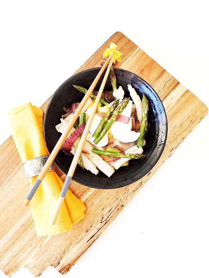 wok asperge oeuf