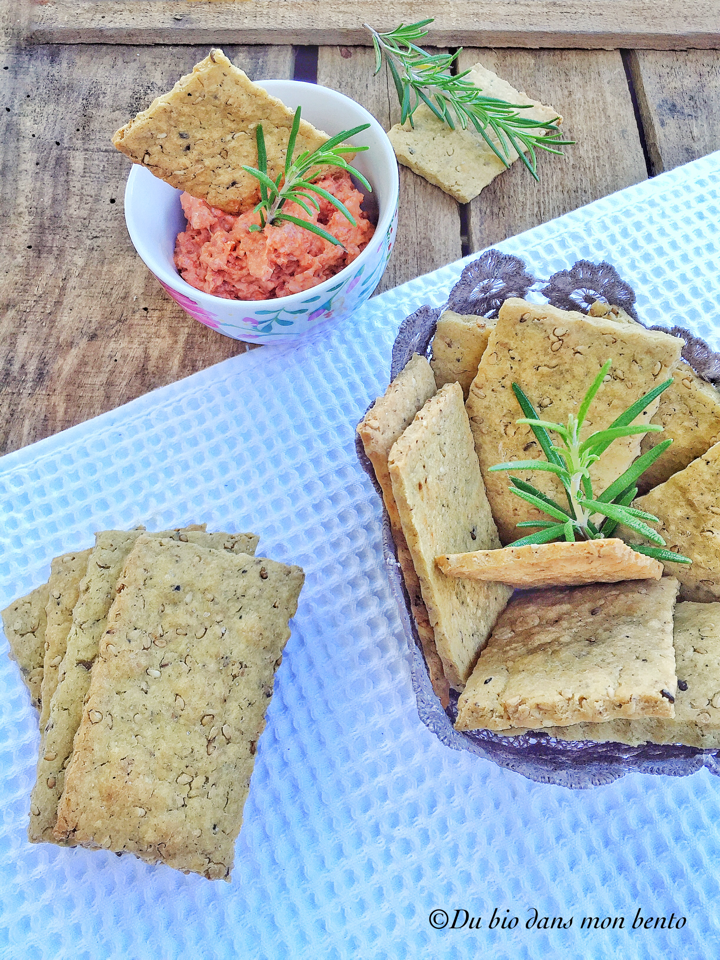 crackers vegan croustillants