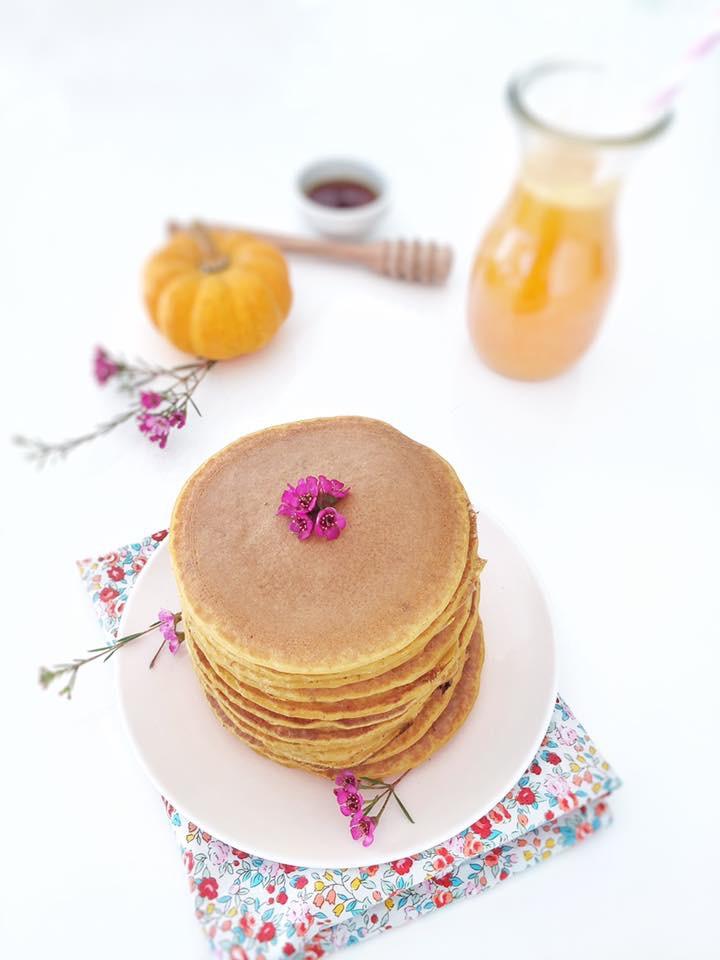 Pancakes au potiron et aux épices