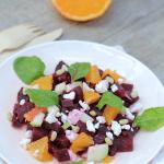 Salade de betterave orange pomme et feta