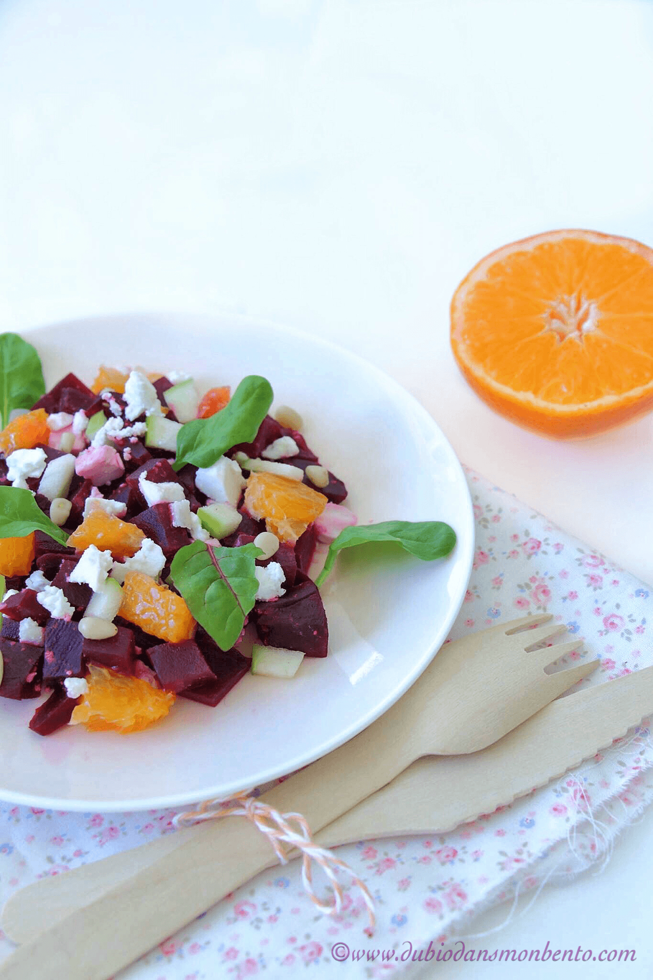 Salade de betterave orange pomme et feta