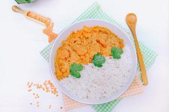 dahl de letilles corail aux carottes