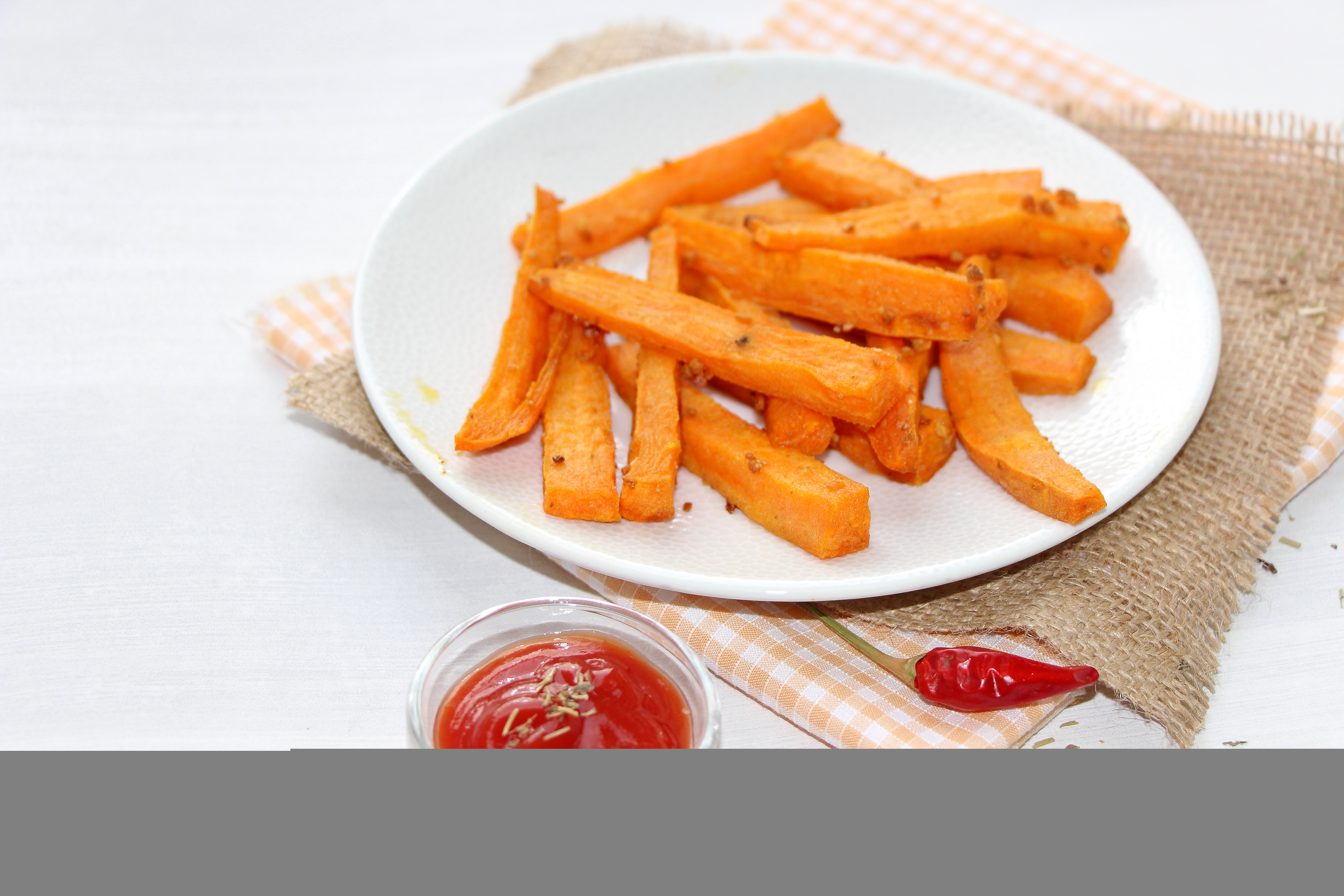 frites de patate douce au four