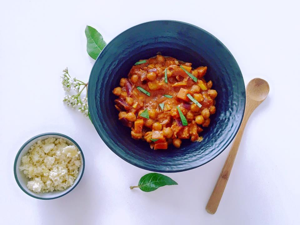 curry vremeux aux pois chiches