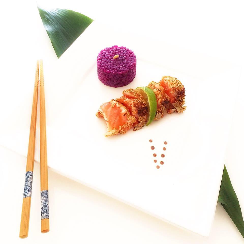 tataki de saumon sauvage
