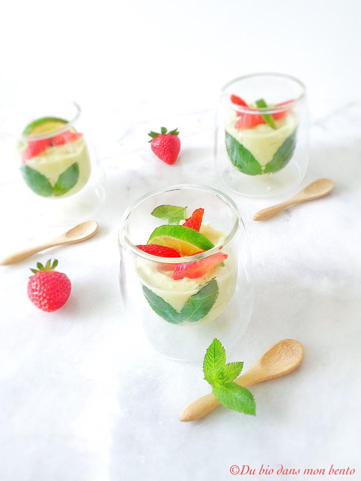 Crème d'avocat citron vert
