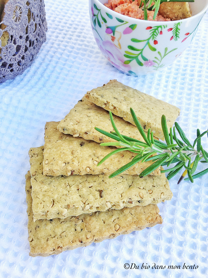 Crackers vegan croustillants