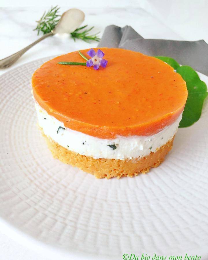 Cheesecake chèvre poivron