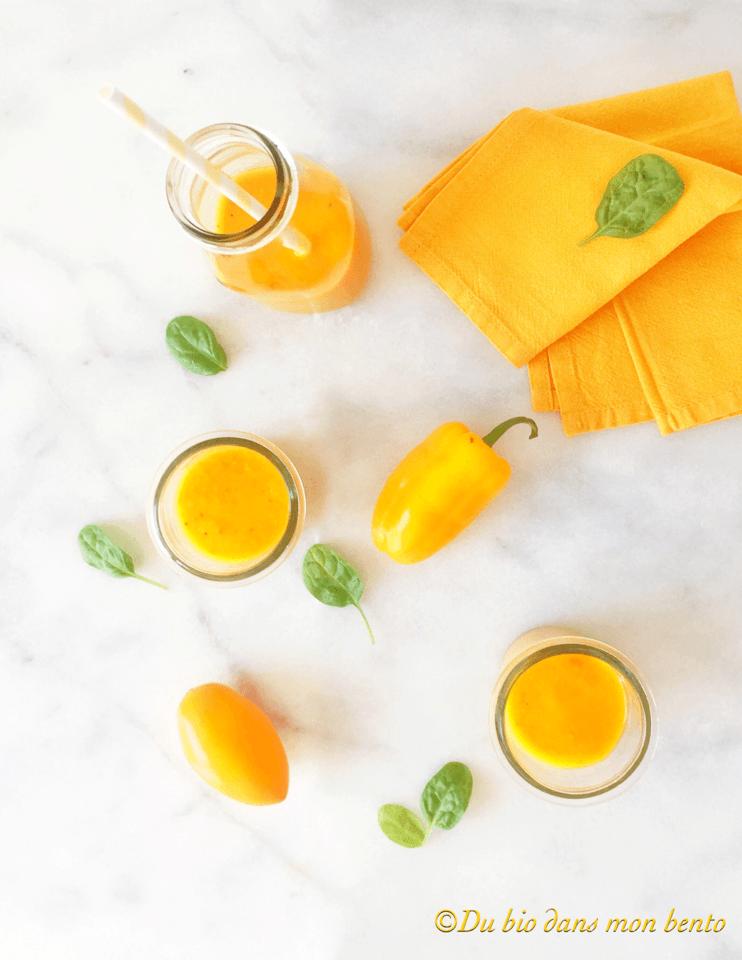 Gaspacho jaune ensoleillé