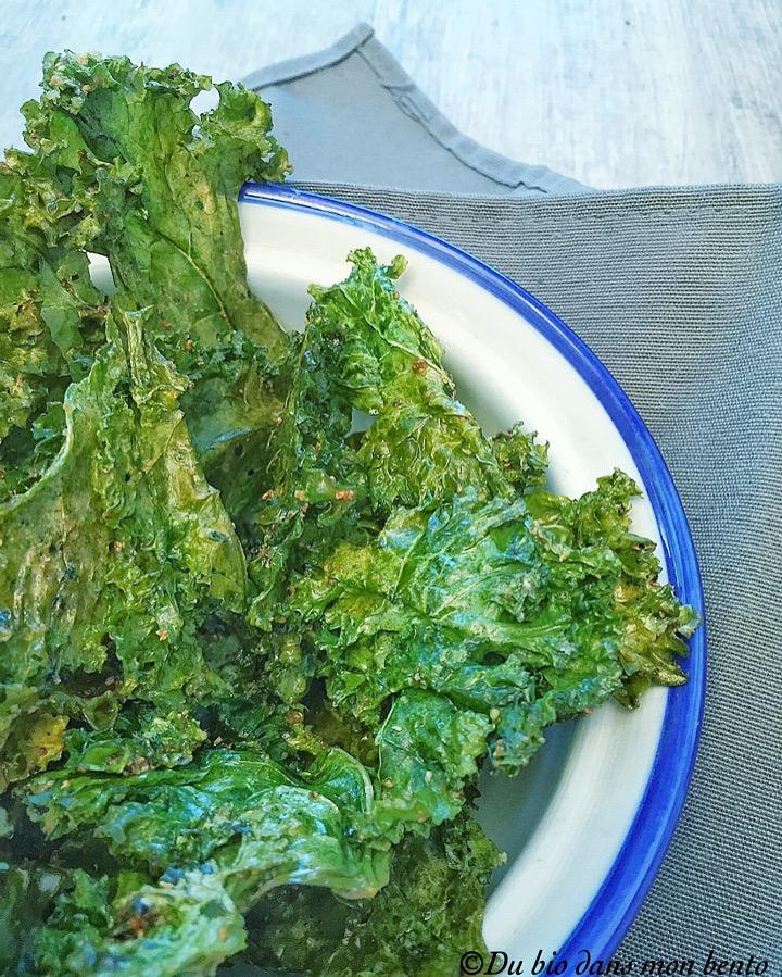 Chips de chou kale aux épices