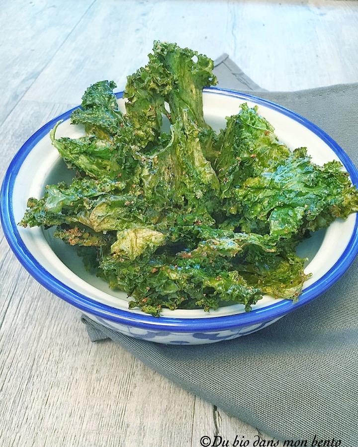 Chips de kale aux épices