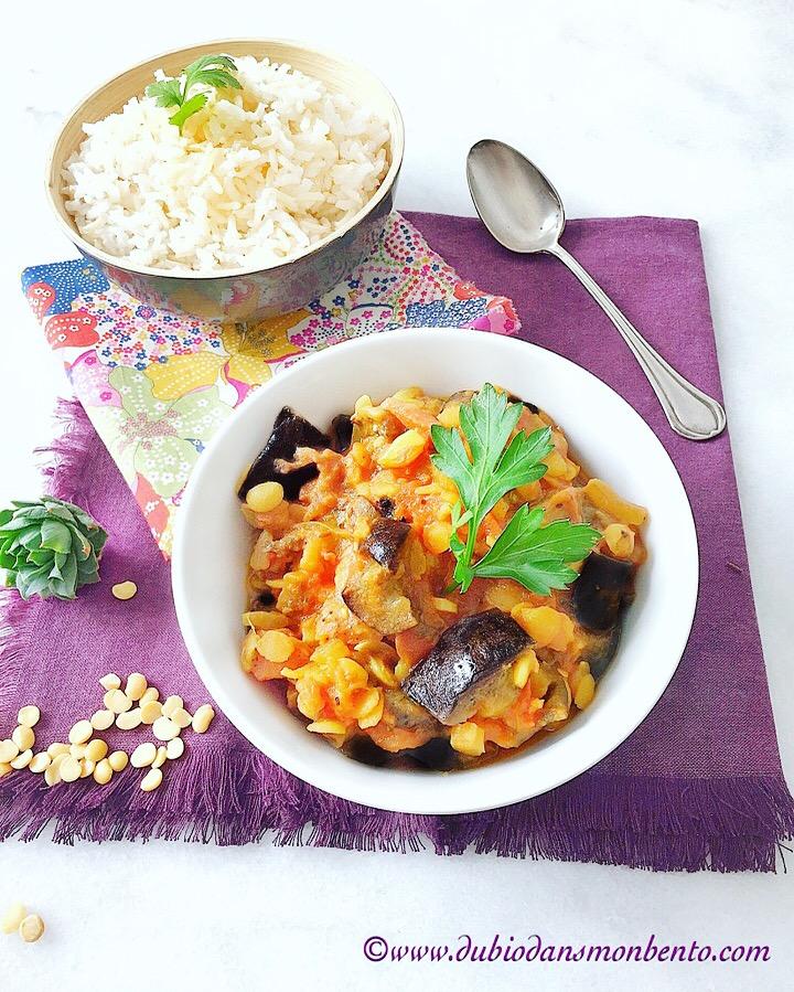 Curry d'aubergine qui fait voyager