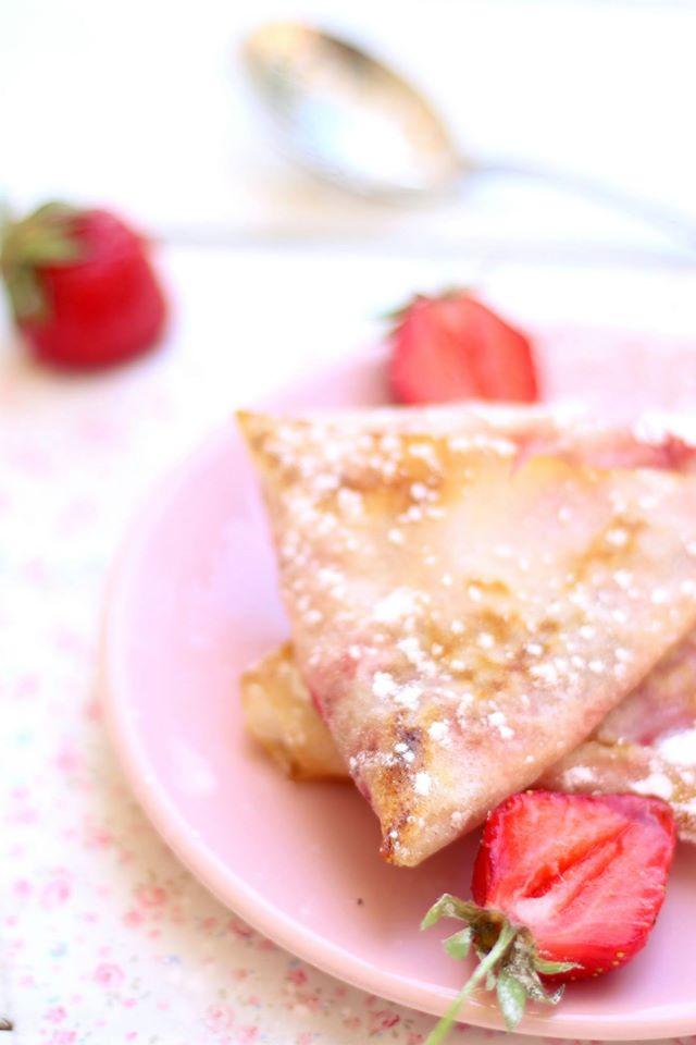 samosas croustillants à la fraise