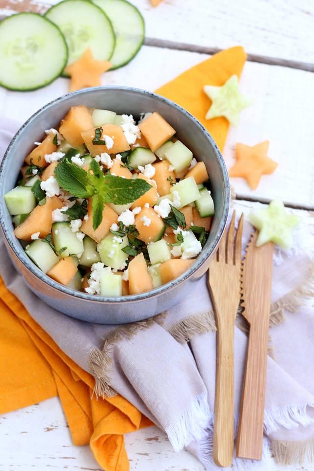 salade concombre melon et feta