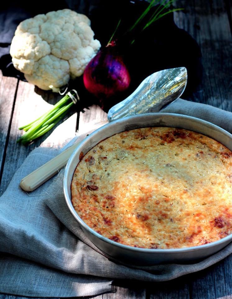 gâteau salé de chou fleur