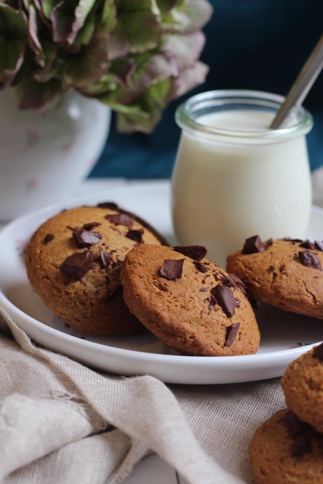 cookies coeur coulant chocolat