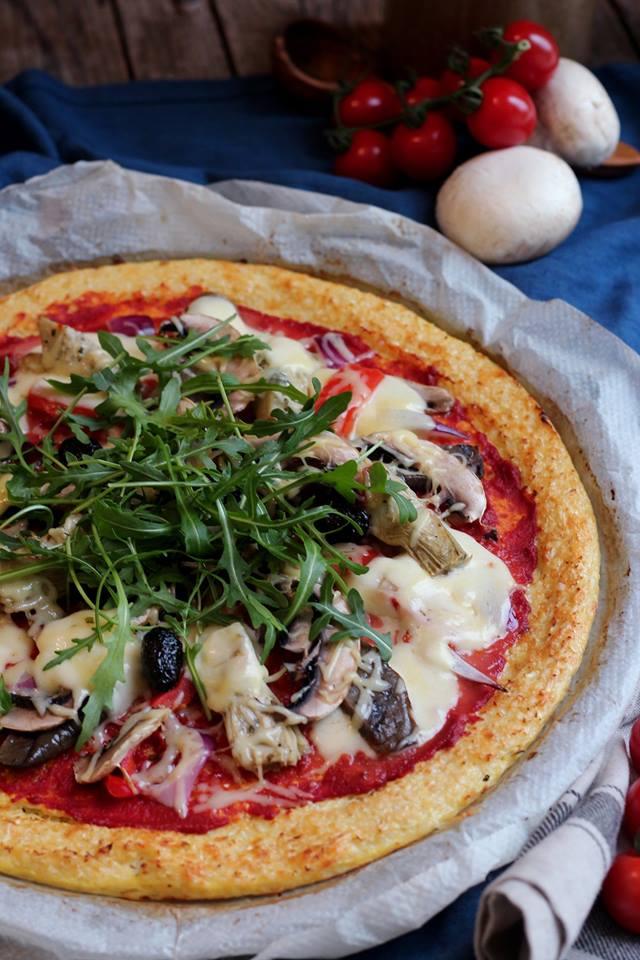 pizza pâte de chou-fleur
