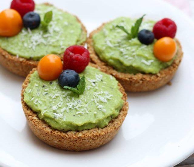 Tartelettes pomme kiwi vegan