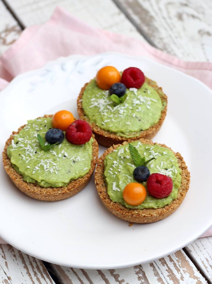 Tartelettes vegan pomme kiwi
