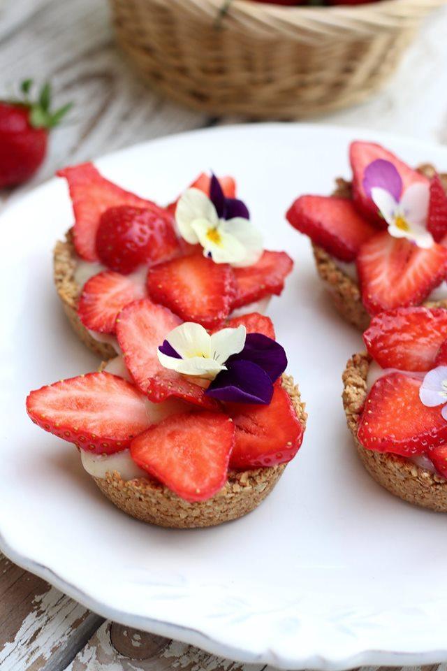 Tartelettes vegan aux fraises