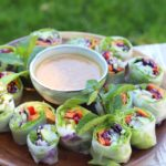 Sauce crémeuse veggie rolls