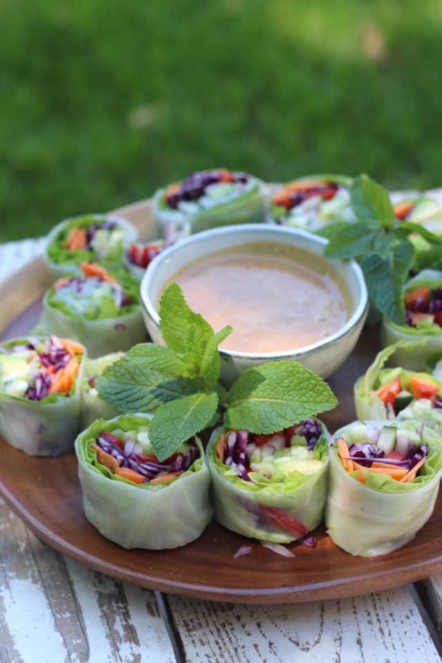 Sauce crémeuse pour veggie rolls