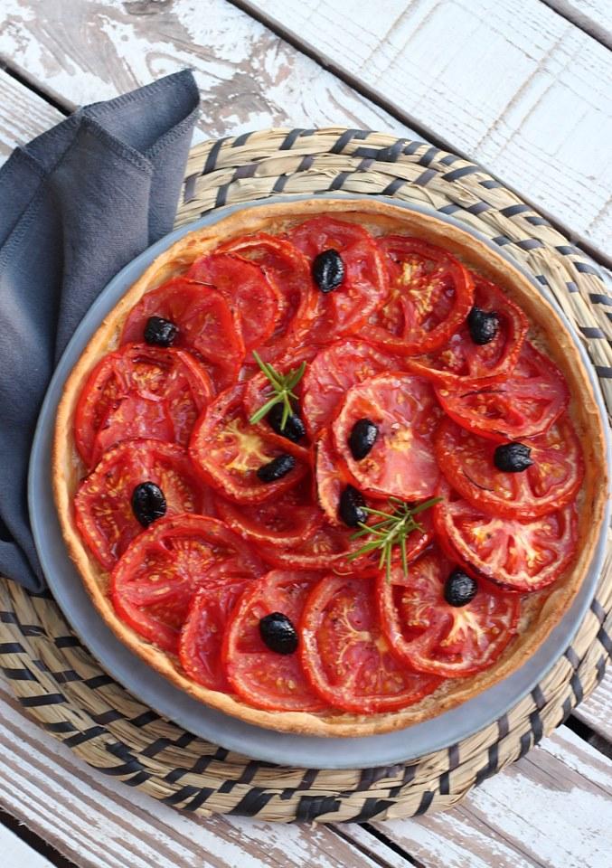 Tarte à la tomate vegan