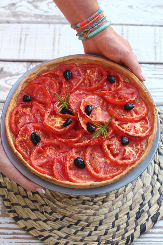 Tarte tomate moutarde vegan