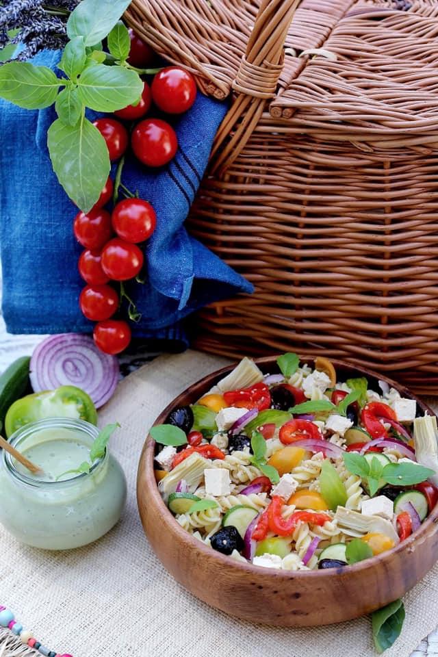 salade depâtes au pesto végétal