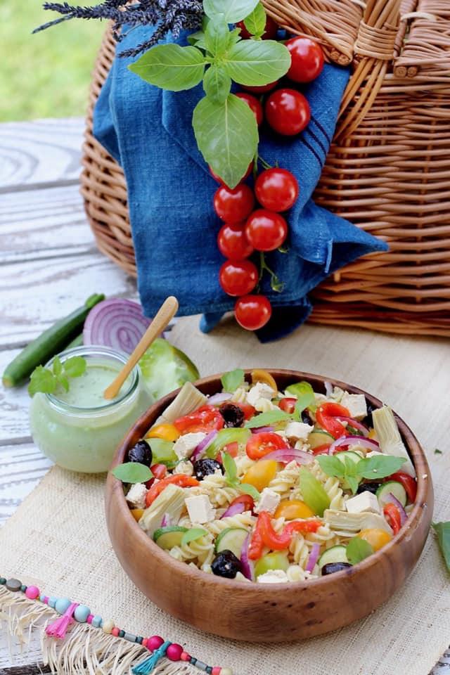 recette salade pâtes au pesto vegan