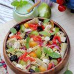 salade de pâtes bio au pesto vegan