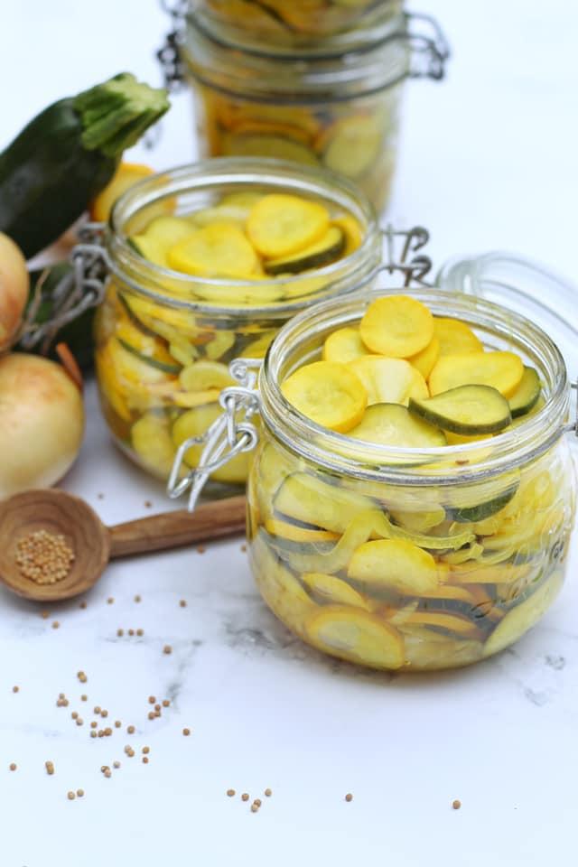 Pickles courgettes à l'aigre doux