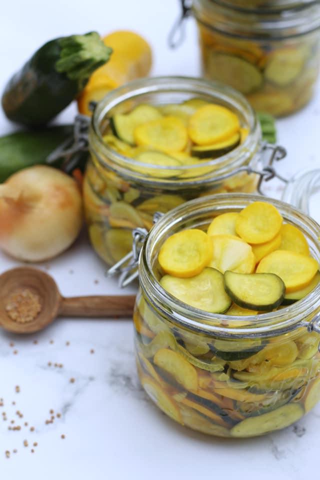 Recette de pickles de courgette