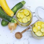 Conserves de courgette en pickles